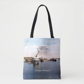 Ludington Car/Rail Ferries all over tote bag