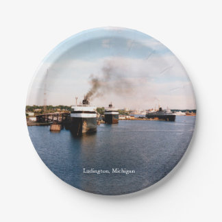 Ludington Car/Rail Ferries paper plate