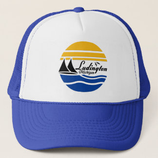 Ludington Michigan 2 Trucker Hat