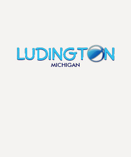 LUDINGTON, MICHIGAN - Ladies Baby Doll (Fitted) Tee Shirt