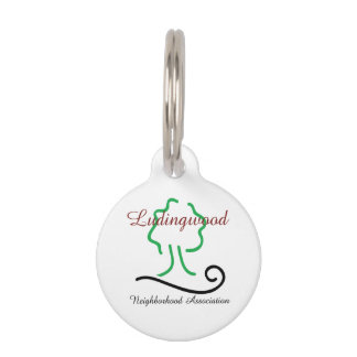 Ludingwood Logo Round Small Pet Tag