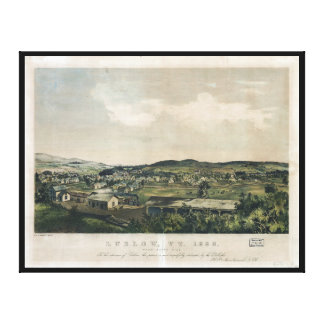 Ludlow Vermont From South Hill (1859) Canvas Prints