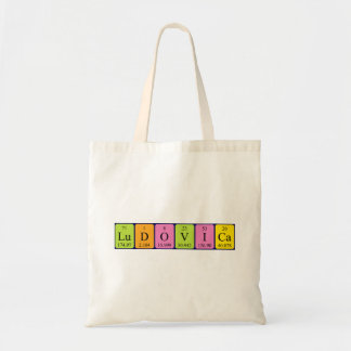 Ludovica periodic table name tote bag