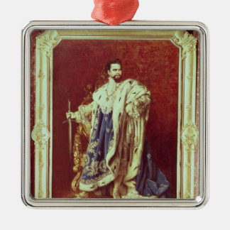 Ludwig II  1887 Silver-Colored Square Decoration