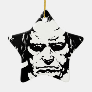 Ludwig van Beethoven - famous German composer Ceramic Star Decoration