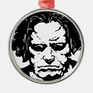 Ludwig van Beethoven - famous German composer Silver-Colored Round Decoration