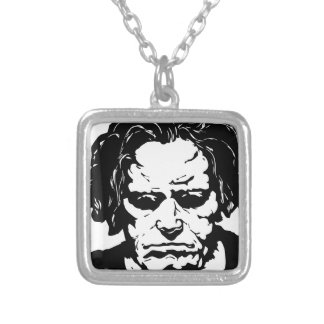 Ludwig van Beethoven - famous German composer Silver Plated Necklace