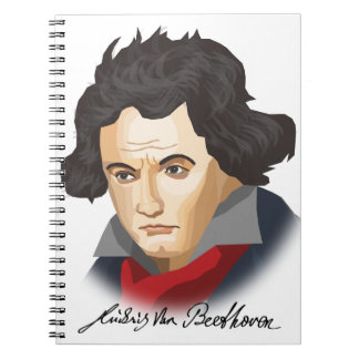 Ludwig van Beethoven in the Cartoon style Notebook