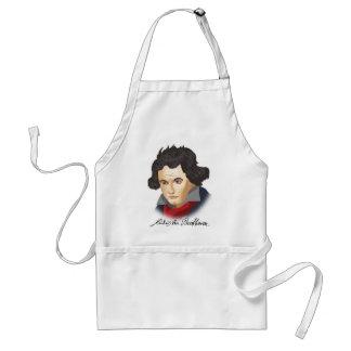 Ludwig van Beethoven in the Cartoon style Standard Apron