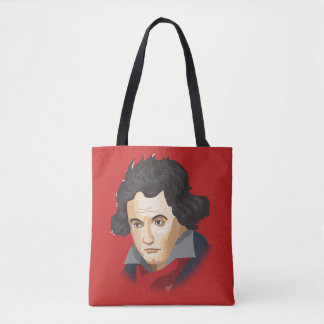 Ludwig van Beethoven in the Cartoon style Tote Bag