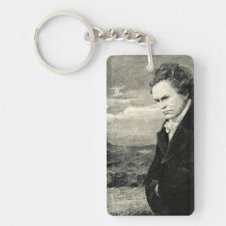 Ludwig Van Beethoven Vintage Portrait Single-Sided Rectangular Acrylic Key Ring