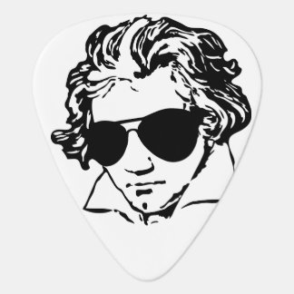 Ludwig van Beethoven with sun glasses Plectrum