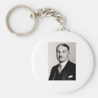 ludwig von mises basic round button key ring