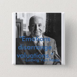 Ludwig Von Mises Quotes 15 Cm Square Badge