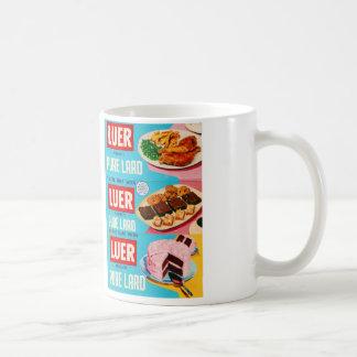 Luer Pure Lard Box Retro Vintage Kitsch Coffee Mugs