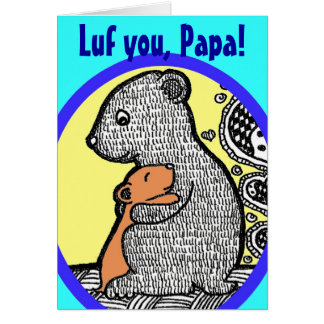 Luf You, Papa - Father's Day Card