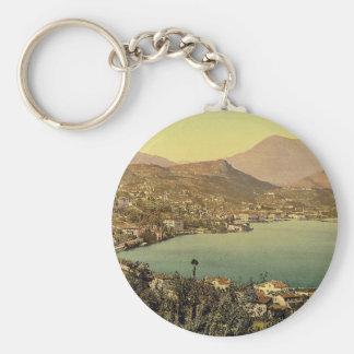 Lugano, from San Salvatore, Tessin, Switzerland vi Key Ring