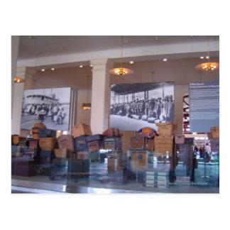 Luggage Ellis Island Postcard