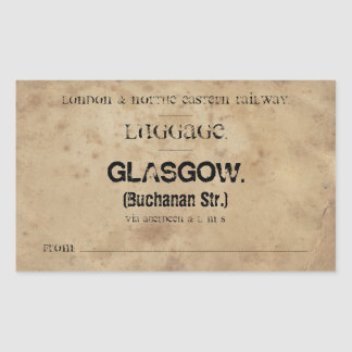 Luggage Glasgow (To customize) Rectangular Sticker