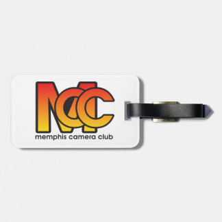 Luggage Modern Logo Tag w/ leather strap