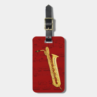Luggage Tag - Bass Saxophone - Choose color Tags For Bags