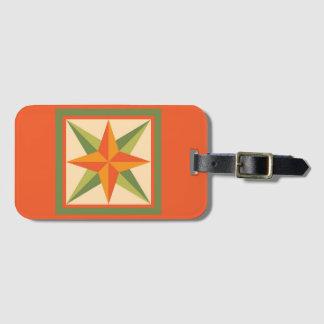 Luggage Tag - Beveled Star (orange)