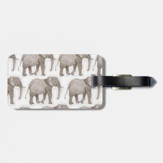luggage tag, elephant bag tag