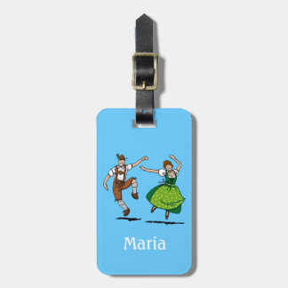 Luggage Tag Oktoberfest Dancing Couple