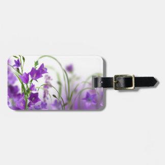 Luggage Tag--Purple Flowers Horizontal Luggage Tag