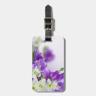 Luggage Tag--Purple Flowers Vertical Bag Tag