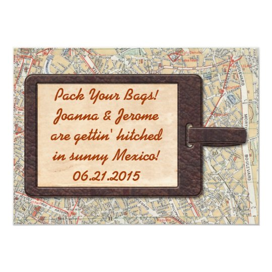 Luggage Tag Save The Date Card