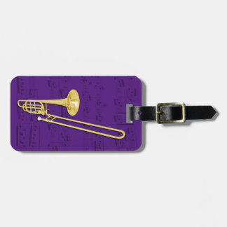 Luggage Tag - Trombone (bass) - Choose color