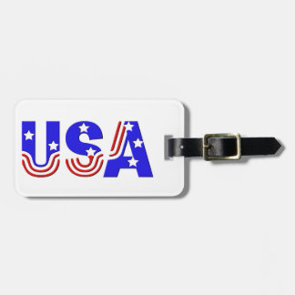 Luggage Tag - USA in Stars & Stripes