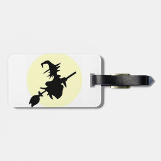 luggage tag,vintage, housewife, witch luggage tag