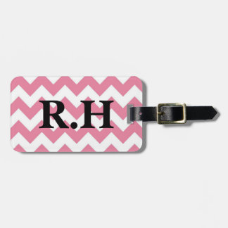 Luggage Tag w/ leather strap and your initials