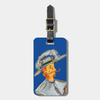 "Luggage Tag w/ leather strap ""My Pirate"""