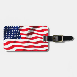 Luggage Tag with American Flag