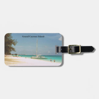 Luggage Tag with Beach Scene