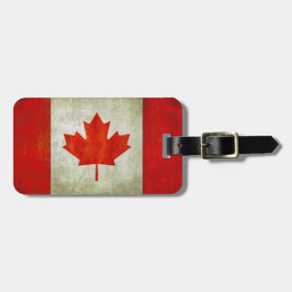 Luggage Tag with Canadian Flag