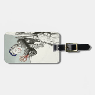 Luggage Tag with Cool Ski Holiday Print