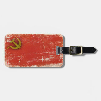 Luggage Tag with Dirty Flag from Soviet Union