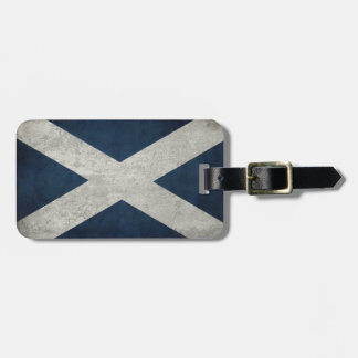Luggage Tag with Dirty Vintage Flag from Scotland