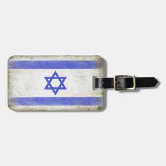 Luggage Tag with Distressed Flag from Israel