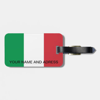 Luggage Tag with Flag of Italy