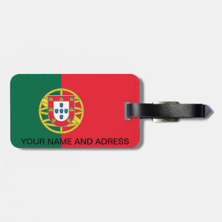 Luggage Tag with Flag of Portugal
