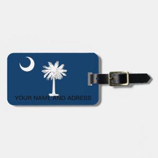 Luggage Tag with Flag of South Carolina, USA