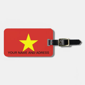 Luggage Tag with Flag of Ukraine