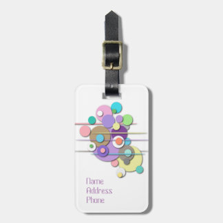 "Luggage Tag with ""Pastel Circles"" design"