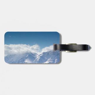 luggage tag with photo of Kluane Mountains