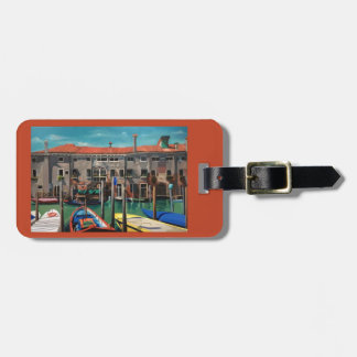 Luggage tag with scene of Venice